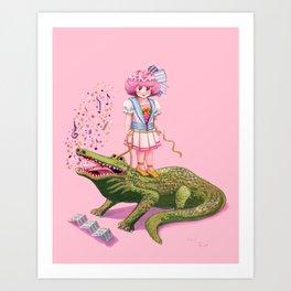 My Pet Crocodile Art Print