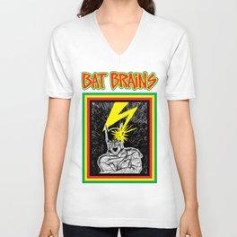 Bat Brains Unisex V-Neck