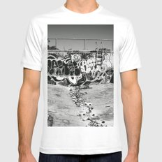 downfall Mens Fitted Tee SMALL White