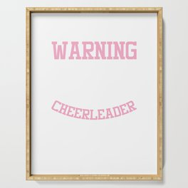 Awesome Cheerleading Squad Warning I Am A Cheerleader Gift Serving Tray
