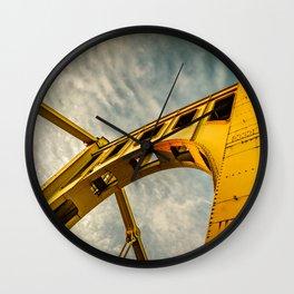 Pittsburgh Steel City Bridge Detail Print Wall Clock