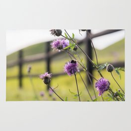 Bumblebee Flower Rug