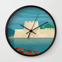 Nafplio, Bourtzi water castle (GR) Wall Clock
