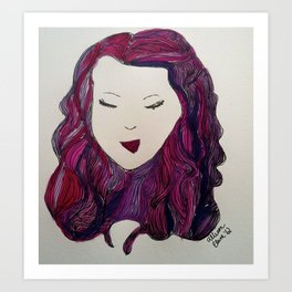 Smirking Girl  Art Print