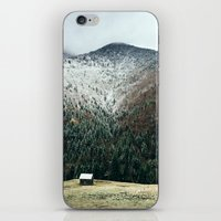 cabin iPhone & iPod Skins featuring Cabin in the woods by General Design Studio
