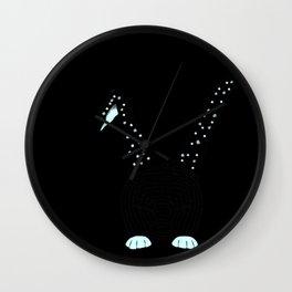 Little Blue Bunnie Wall Clock
