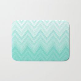 Fading Teal Chevron Bath Mat