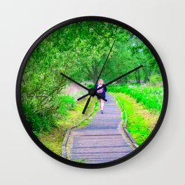 Countryside Walk Wall Clock