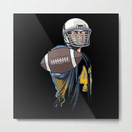 American Football Football Player Ball Metal Print