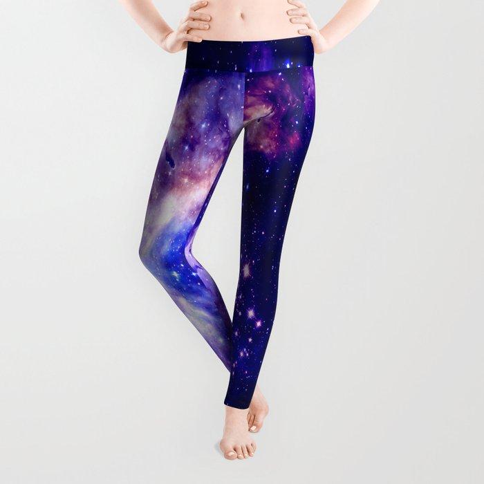 indigo galaxy : Celestial Fireworks Leggings