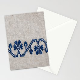 cross-stitch border Stationery Cards