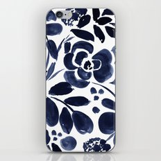 Navy Floral iPhone & iPod Skin