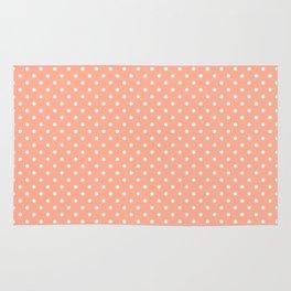 Mini Peach with White Polka Dots Rug