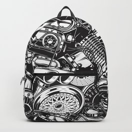 Automobile car parts pattern Backpack