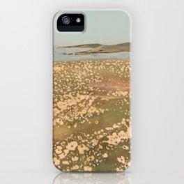 Wildflower Fields by the Ocean iPhone Case