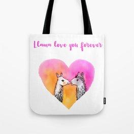Llama love you forever Tote Bag