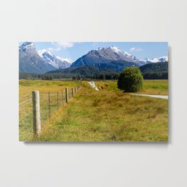 Mountain Road- New Zealand Metal Print