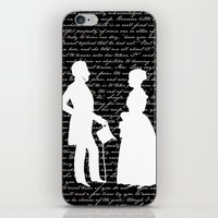 pride and prejudice iPhone & iPod Skins featuring Pride and Prejudice design by Evie Seo