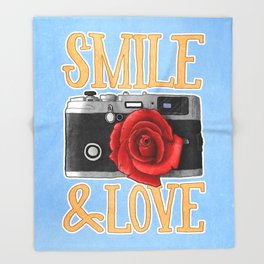 Smile and Love Throw Blanket