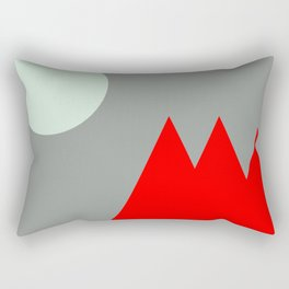 Red Mountains and Moon Rectangular Pillow