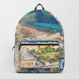 Malta St. Julians #malta #city Backpack