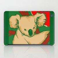 koala iPad Cases featuring Koala by whiterabbitart