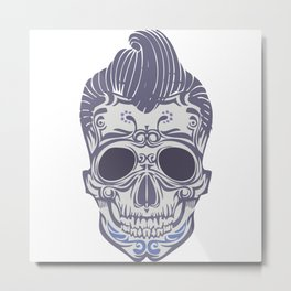 Skull of the sixties Metal Print
