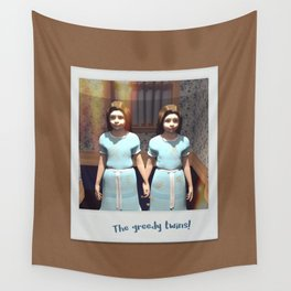 The greedy twins! Wall Tapestry