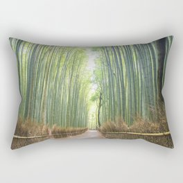 Empty Path Arashiyama Bamboo Forest Rectangular Pillow