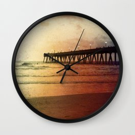 Johnny Mercer's Fishing Pier Wall Clock