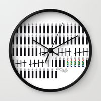 mandela Wall Clocks featuring Mandela  by Keep It Simple
