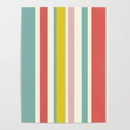 Candy Stripe Pattern Poster