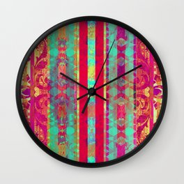 Moroccan Magenta and Turquoise Wall Clock