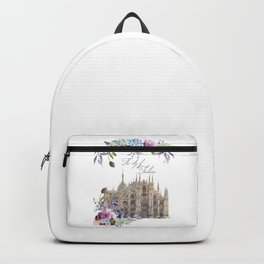 Duomo di Milano Milan Italy Vintage Backpack