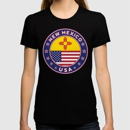 New Mexico, USA States, New Mexico t-shirt, New Mexico sticker, circle T-shirt