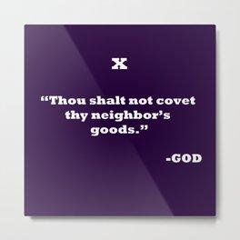 Ten Commandments...TEN Metal Print