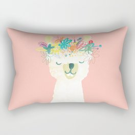 Llama Goddess Rectangular Pillow