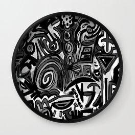 Black Symbols Wall Clock
