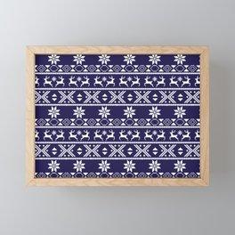 Fair Isle Blue  #Christmas Framed Mini Art Print