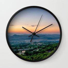 Sunrise in Macedonia Wall Clock