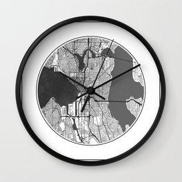 Seattle Map Universe Wall Clock