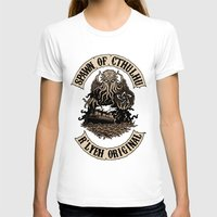 spawn T-shirts featuring Spawn of Cthulhu Sepia Tone by Azhmodai