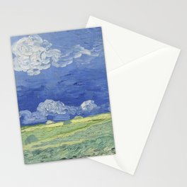 Wheatfield under Thunderclouds Stationery Cards