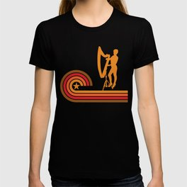 Retro Style Harpist Vintage Harp T-shirt