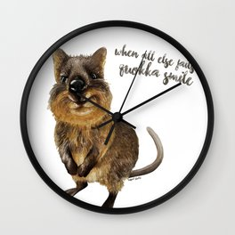 Quokka Smile  Wall Clock