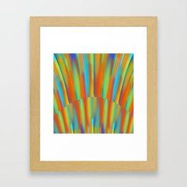 Cooling Metal Copper and Blues Design Framed Art Print