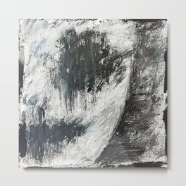 """INSANE..."" - Acrylic Painting   Faces Art   Dark Face Art   Expressionism Art   Art Gallery Metal Print"