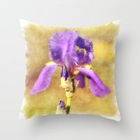 lily Throw Pillows featuring Lily by Susann Mielke
