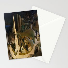 Grant Wood's The Midnight Ride of Paul Revere Stationery Cards