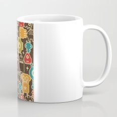 Robots on brown. Mug